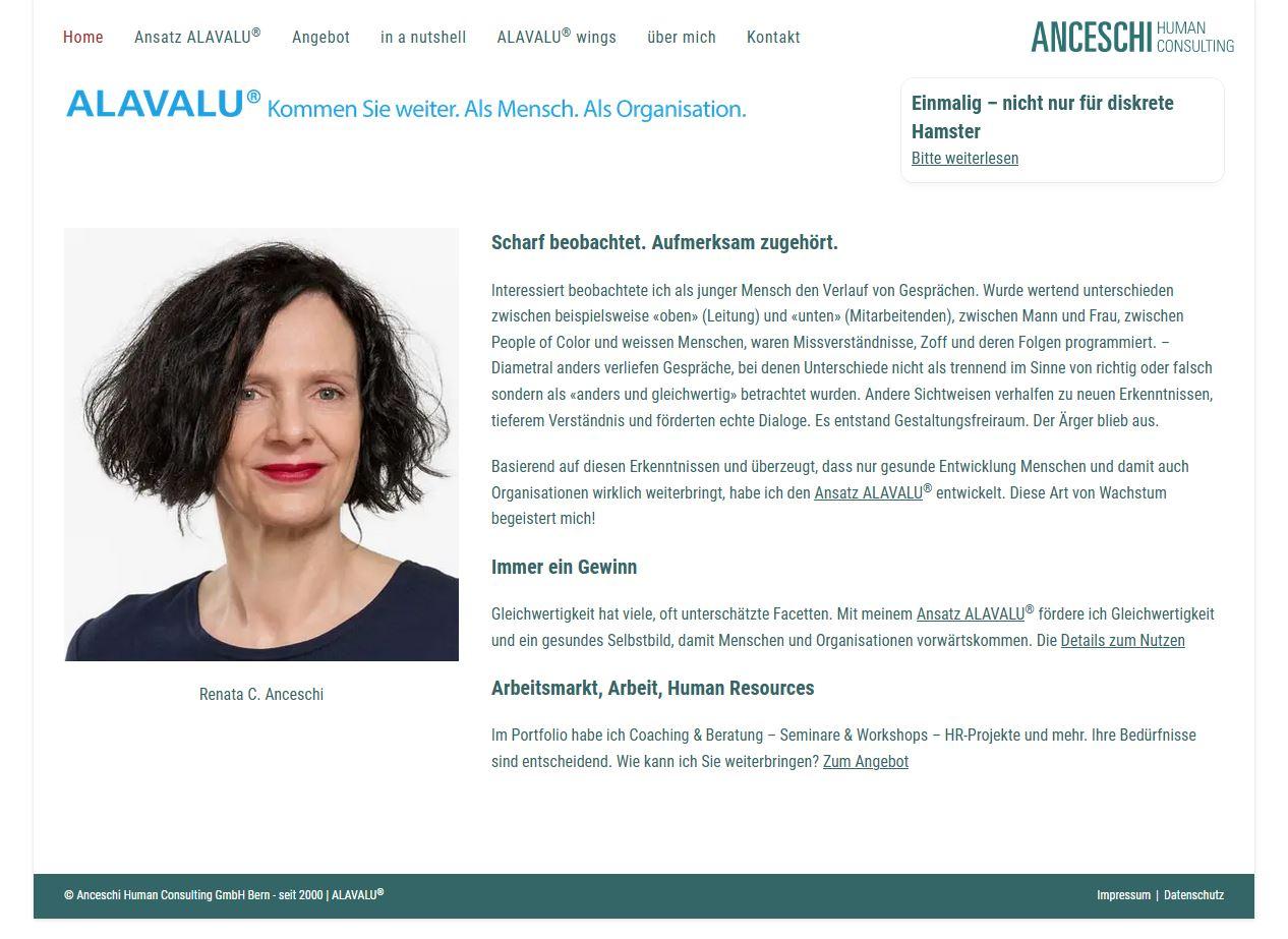 Screenshot anceschi.ch